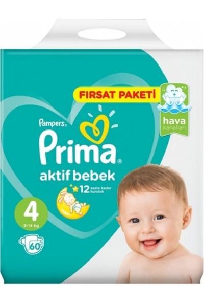 Prima Fırsat Paketi Maxi 4 Beden 9-14 kg 60'lı