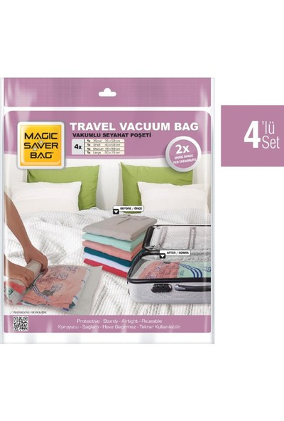 Magıc Saver Bag 4'lü Seyahat Poşeti XS S M L