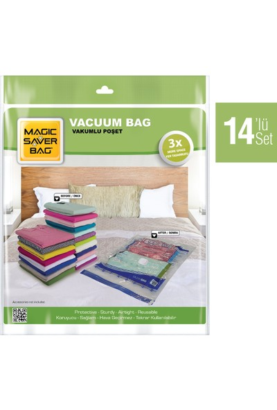 Magıc Saver Bag 14´lü Vakumlu Poşet Seti 2