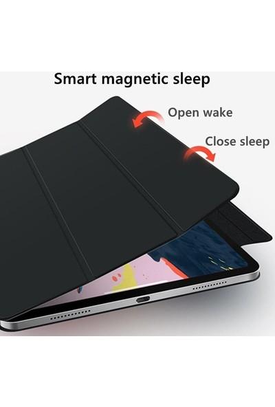 Teleplus Apple iPad Pro 12.9 2020 Kılıf Cover Standlı Mıknatıslı Bluetooth Klavyeli Kılıf Lacivert