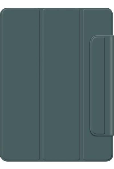 Teleplus Apple iPad Pro 10.2 Kılıf Cover Standlı Mıknatıslı Bluetooth Klavyeli Kılıf Yeşil