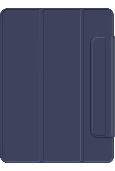 Teleplus Apple iPad Pro 11 Kılıf Cover Standlı Mıknatıslı Bluetooth Klavyeli Kılıf Lacivert