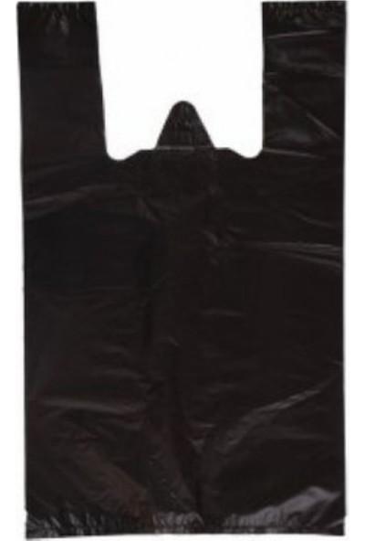 İhtiyaç Limanı Siyah Kalın Atlet Market Poşet Battal Boy 40 x 75 1 kg