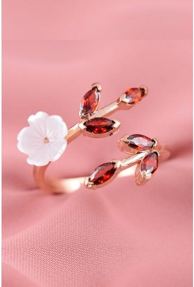 Lotus Gümüş Manolya Çiçeği Ayarlanabilir 925 Ayar Gümüş Kadın Yüzük