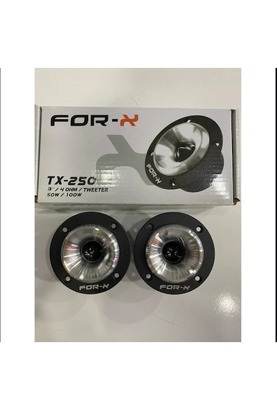 For-X TX-250 Tweeter 100W Peak Power 50W Rms 2 Adet