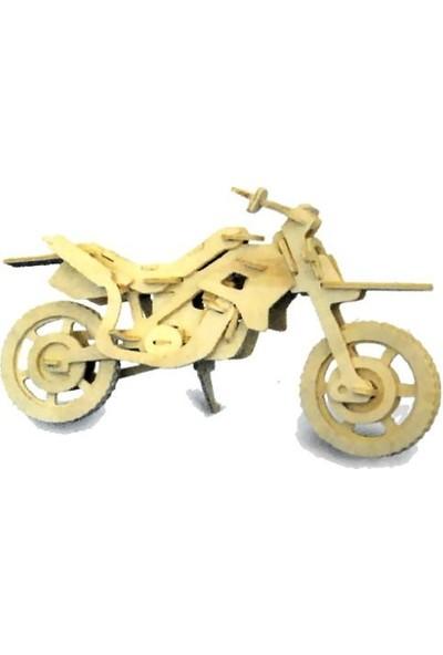 Lederax 3D Ahşap Maket Motorsiklet