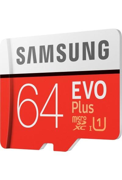 Samsung Evo Plus 64GB microSDHC/SDXC U1 UHS-I SDR104 Kart (Adaptör) MB-MC64HA/APC
