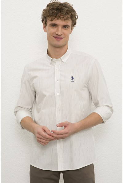 U.S. Polo Assn. Erkek Beyaz Gömlek Uzunkol 50231333-VR013