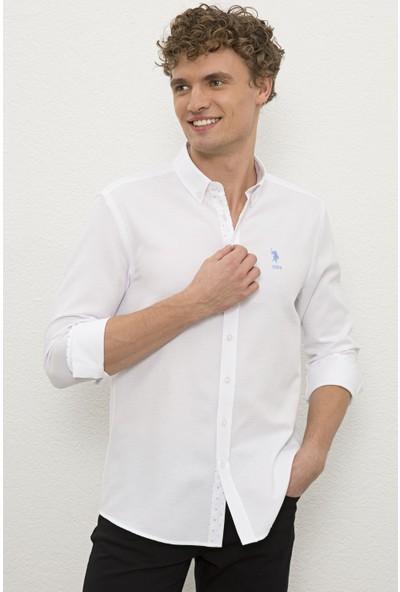 U.S. Polo Assn. Erkek Beyaz Gömlek Uzunkol 50231405-VR013