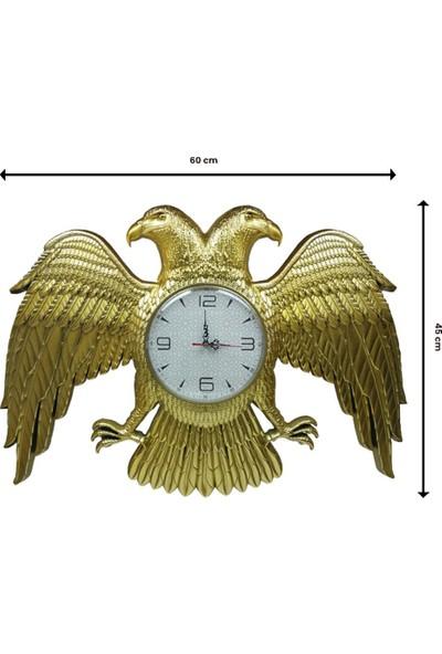 Dekoratif Gold Selçuklu Devleti Arması Çift Başlı Kartal Saat