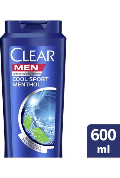 Clear Men Cool Sport Menthol Erkek Şampuan 600 ml