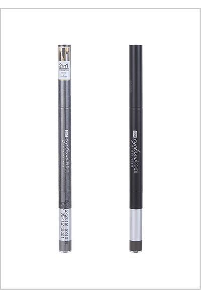 Miniso 2'si 1 Arada Kaş Kalemi + Kaş Farı 07 Siyah