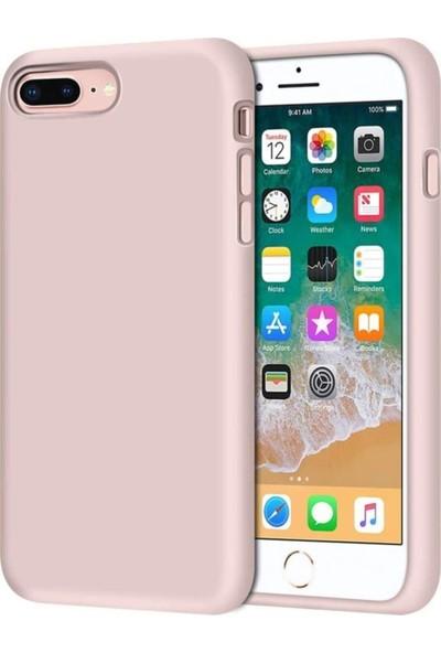 Rosstech Apple iPhone 6 Plus - 6s Plus Lansman Silikon Kılıf - Kum Pembesi
