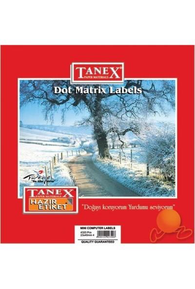Tanex Bilgisayar Etiketi 17 mm x 25 mm