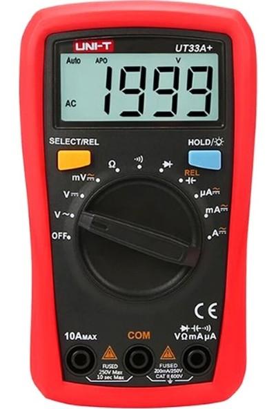 Uni-T UT33A+ Avuçiçi Dijital Multimetre