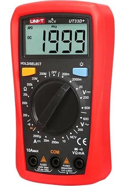 Uni-T UT33D+ Dijital Multimetre