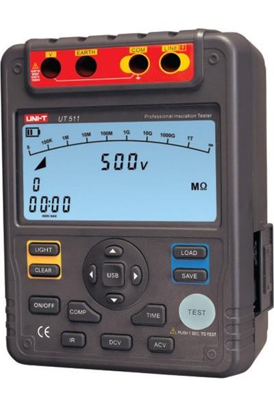Uni-T UT511 Yüksek Voltaj Izolasyon Meğeri - Izolasyon Dirençi Öl