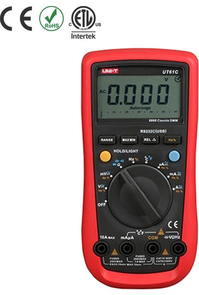 Uni-T UT61C Modern Tip Dijital Multimetre