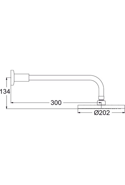 Ideal Standard Sevajet 20 cm Tepe Duşu - Duş Kolu Dahil