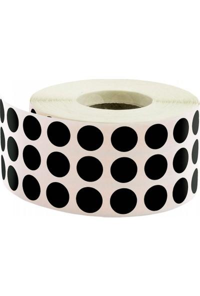 Tanex Siyah 10 mm Renkli Nokta Etiketi 5000'li Rulo