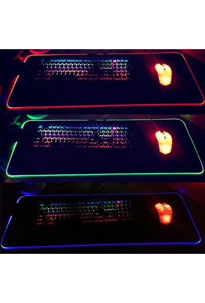 Buyfun Rgb Aydınlık Mouse Pad Aydınlık Mouse Pad LED