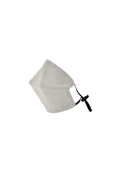 Monopro Vegan Cupro Klipsli ve Telli Beyaz Renkli Yıkanabilir Maske