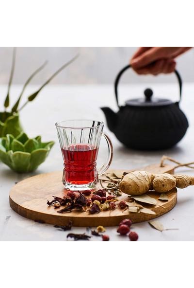 6'Lı Venüs Kulplu Çay Bardağı