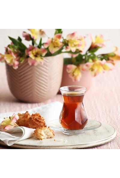 Lav Alya Çay Seti 12 Parça Modern Tasarım Çay Seti