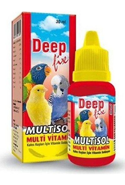 Deep-Fix Multisol - Kuş Multivitamini 30 ml