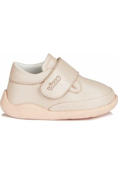 Vicco Ilk Adım Deri Phylon Ayakkabı Kız Çocuk Pudra