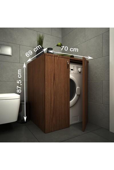 Housepack Erahome Mine Çamaşır Makinesi Alt Dolap Ceviz