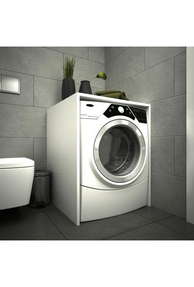 Housepack Erahome Mine Çamaşır Makinesi Alt Dolap Kapaksız Beyaz