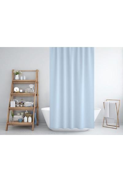 Zethome Jackline Banyo Duş Perdesi 0010 Mavi Tek Kanat 1 x 120 x 200