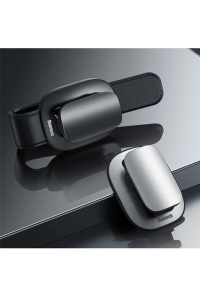 Baseus Platinum Araç Oto Güneşlik Gözlük Tutucu Klipsli ACYJN-A01 Siyah,gri
