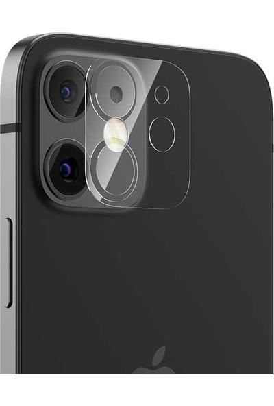 Case Street Apple iPhone 12 Kamera Lens Koruyucu Cam Şeffaf