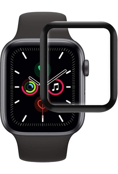 Case Street Apple Watch Se 44 mm Fiber Nano Ekran Koruma Siyah