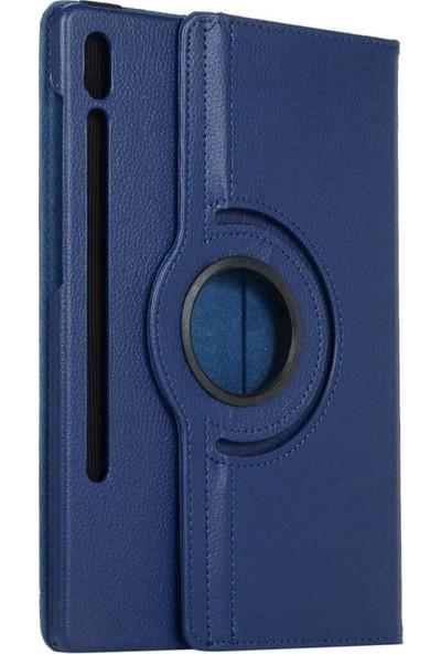 Case Street Samsung Galaxy Tab S7 Plus T970 Kılıf Dönerli Kapaklı Lüx Koruma Lacivert