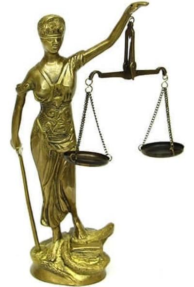 Crownwell Adalet Kadını Bronz Biblo