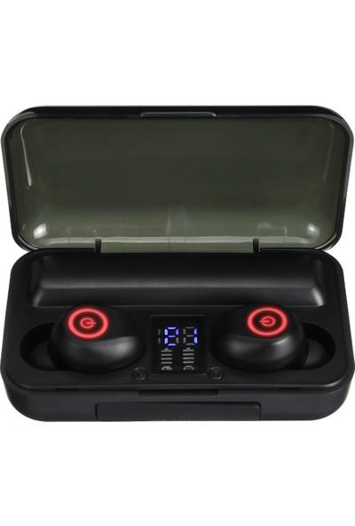 Insma F9-3 Tws Bluetooth 2'li Stereo Gürültü Azaltma Ipx5 Su Geçirmez Telefon Kulaklığı Şarjlı Kılıf (Yurt Dışından)