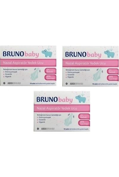 Bruno Burun Aspiratörü Yedek Uç 10'lu -3 Paket