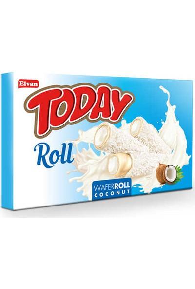 Elvan Today Roll Beyaz Kakao Kaplı Hindistan Cevizli Gofret 18 Gr. 24 'lü