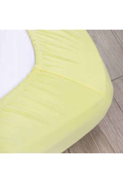 Açelya Home Jumbo Boy Penye Lastikli Çarşaf Takımı-Sarı