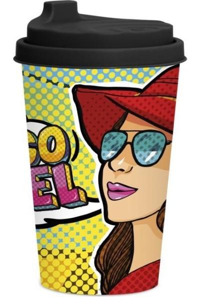 Herevin 340 cc Desenli Kahve Bardağı