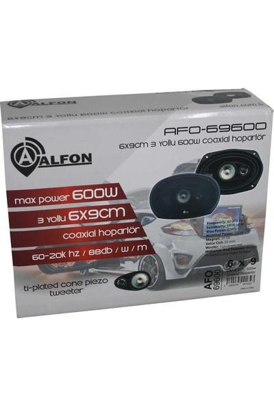 Alfon AFO-69600 6X9CM 600W 3 Yollu Coaxial Hoparlö
