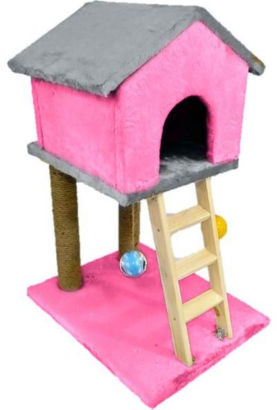 Mila Süngerli Merdivenli Kedi Tırmalama Evi 85 x 55 x 45 cm
