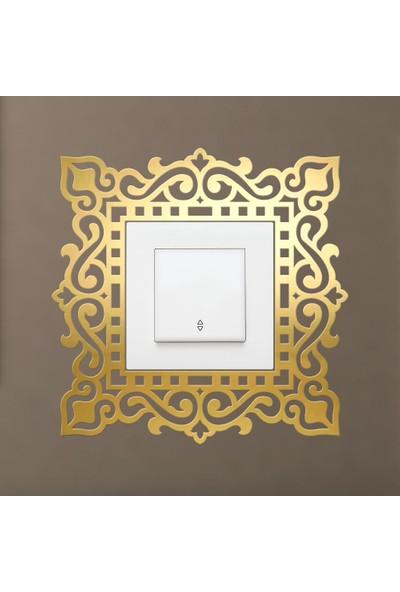 Tual Dekoratif Pleksi Priz Anahtar Buton Çerçevesi Teklı