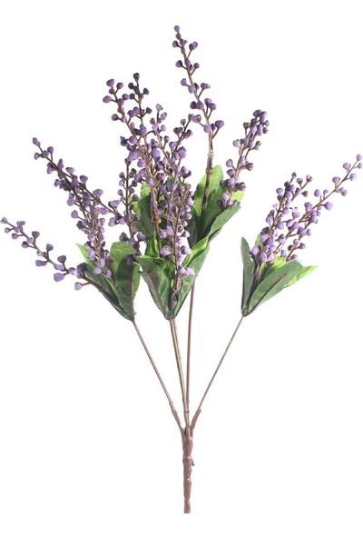 Nettenevime Yapay Çiçek Lavanta Demeti Taşlı Lavanta Mor