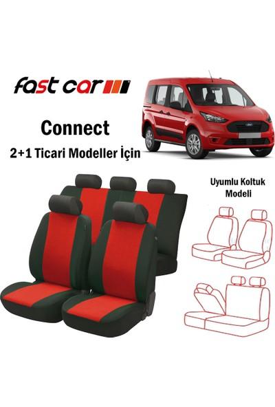 Fast Car Connect Oto Koltuk Kılıfı Arka 2+1 Koltuk Modeli Siyah Kırmızı