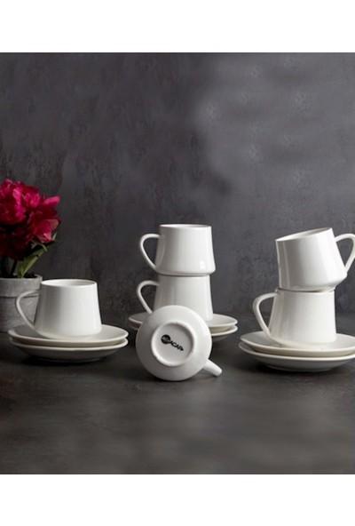 Acarlar PORJ-010129 Porselen 6lı Kahve Fincanı