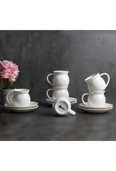 Acarlar PORJ-010132 Porselen 6'lı Kahve Fincanı
